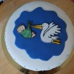 Stork med bebis